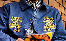 HighLife / Kung fu Tiger Cotton Twill Coaches Jackets;